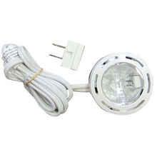 Canarm 35801WHT120-C - Undercabinet, 35801WHT120-C, 1 Puck 120 Volt 20 Watt Puck White, 1x20W G8 Bulbs(Included) with 5&#39