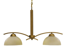 Whitfield CH107-2ASBCP - 2 Light Chandelier