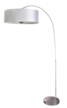 Whitfield FL128CHSHADE2207PW - 1 Light Floor Lamp